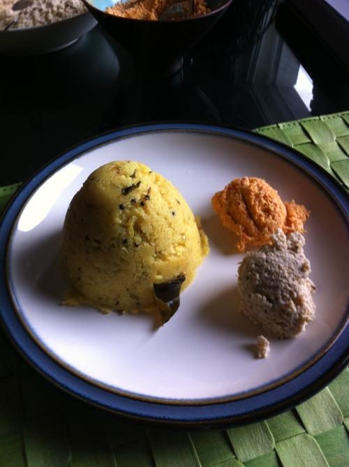 Khara Bath and Coconut Chutney
